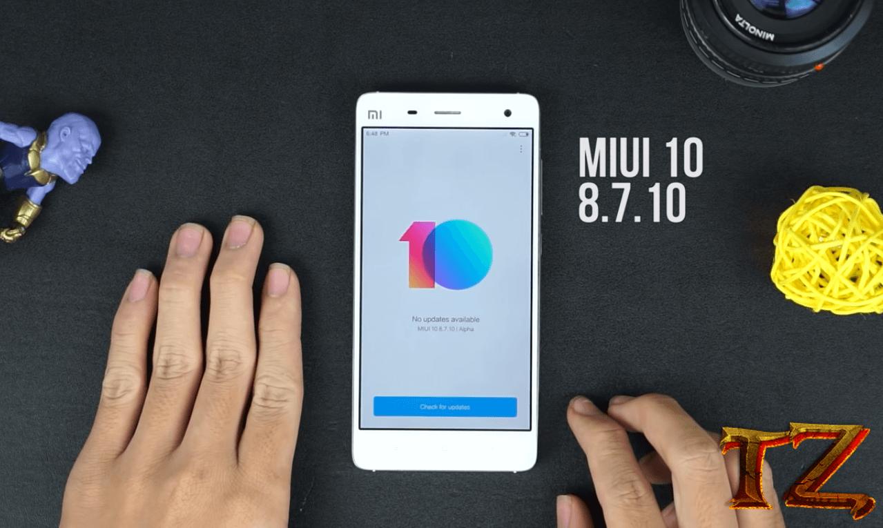 MIUI 10 update for Xiaomi Mi 4 and Mi 3