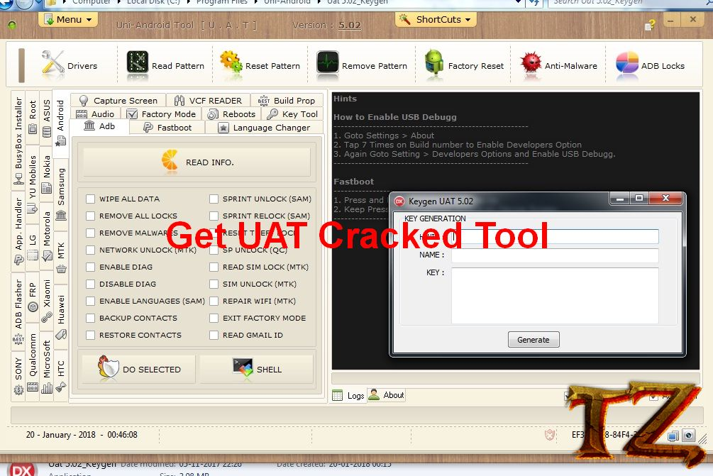 FRP cracked tool
