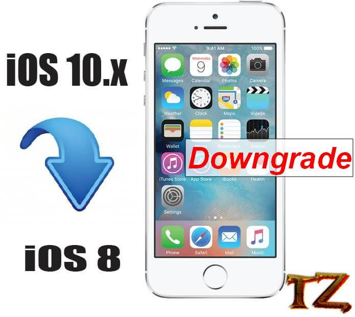 How To Downgrade From iOS 10 3 3 To iOS 8 4 1-Techzai