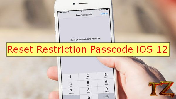 New method to reset Restriction passcode iOS 12