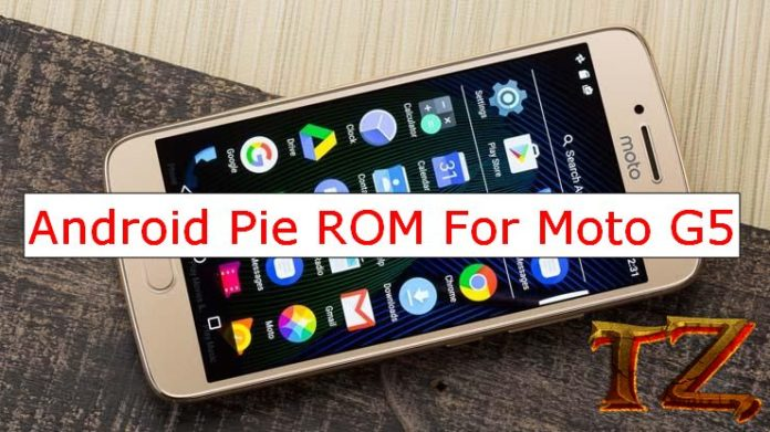 Android Pie update for Moto G5