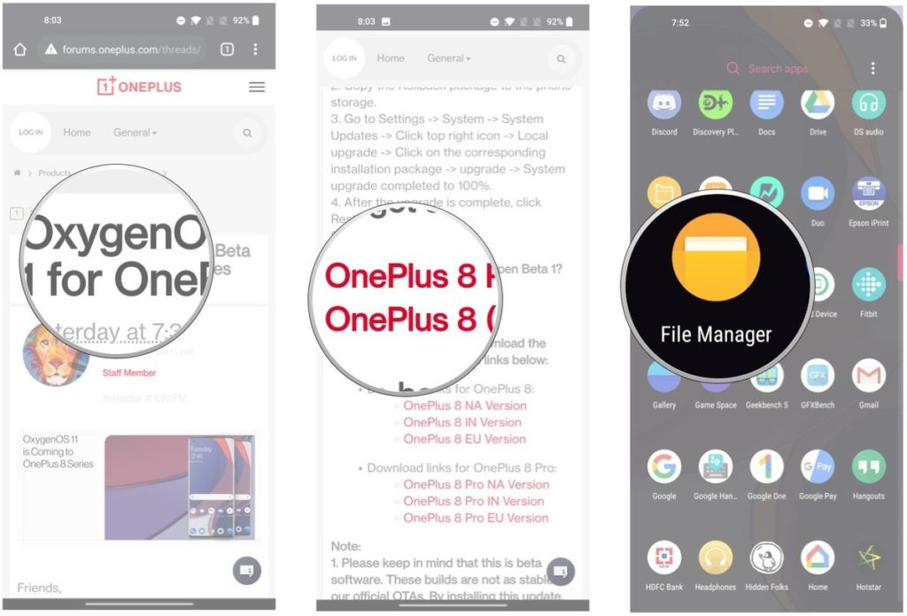 How to install OxygenOS 11 on OnePlus phone